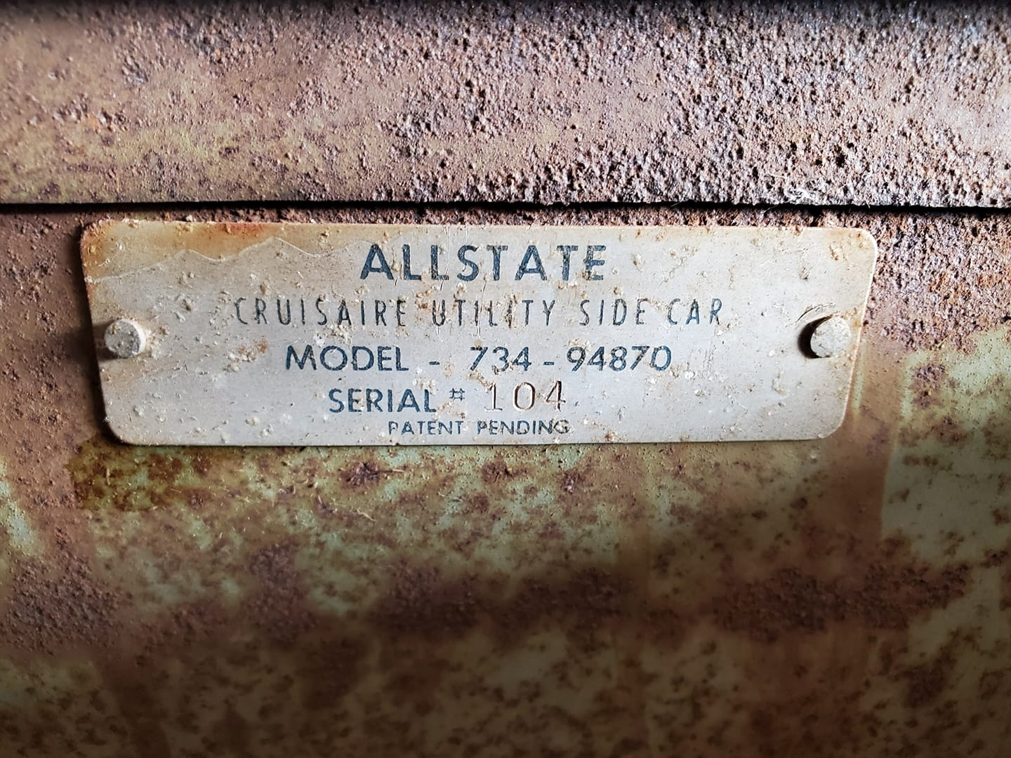 734.94870 Allstate Cruisaire Utility Meyers