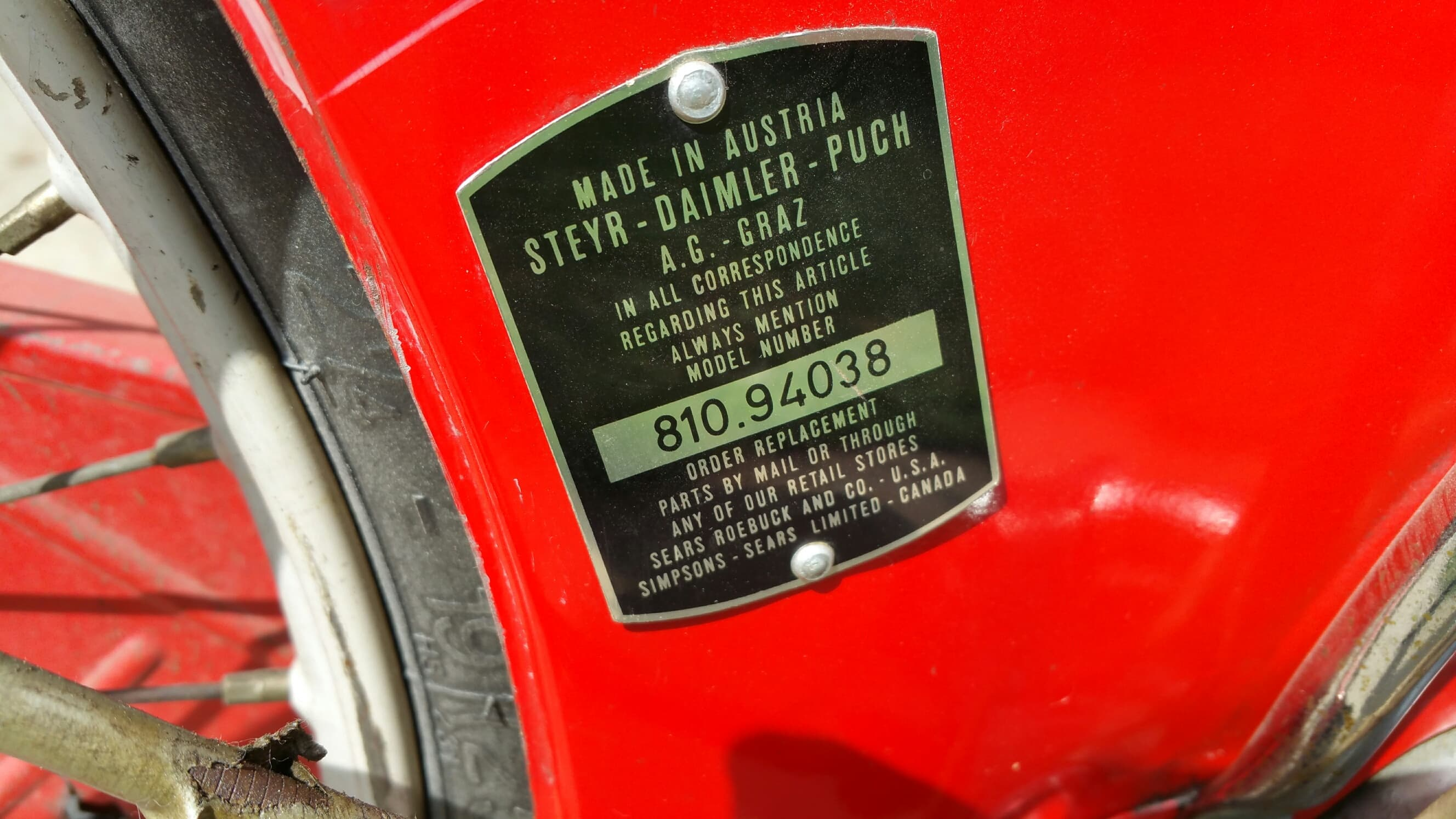 810.94038 Allstate Mo-Ped Puch
