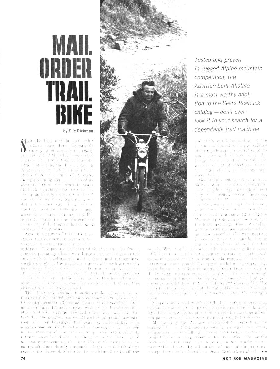 Mail Order Trail Bike Article