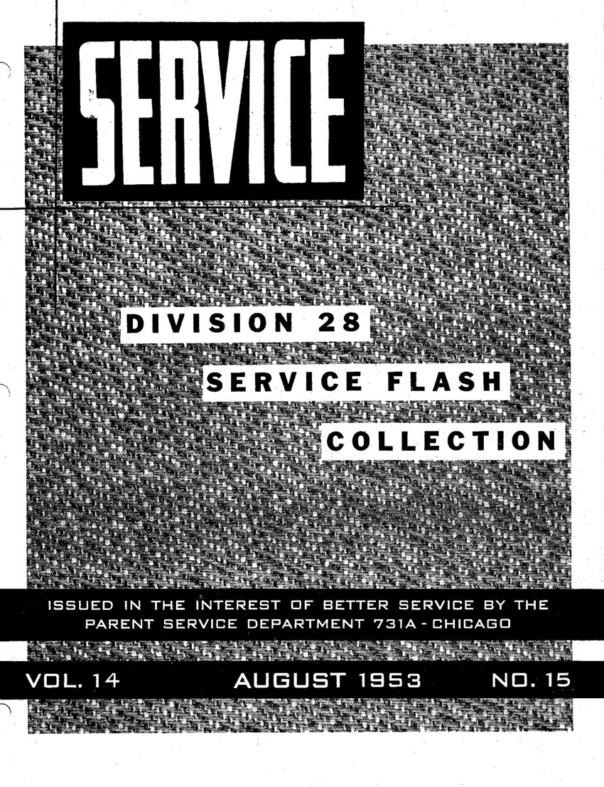 Allstate Cruisaire August 1953 Service Flash Manual