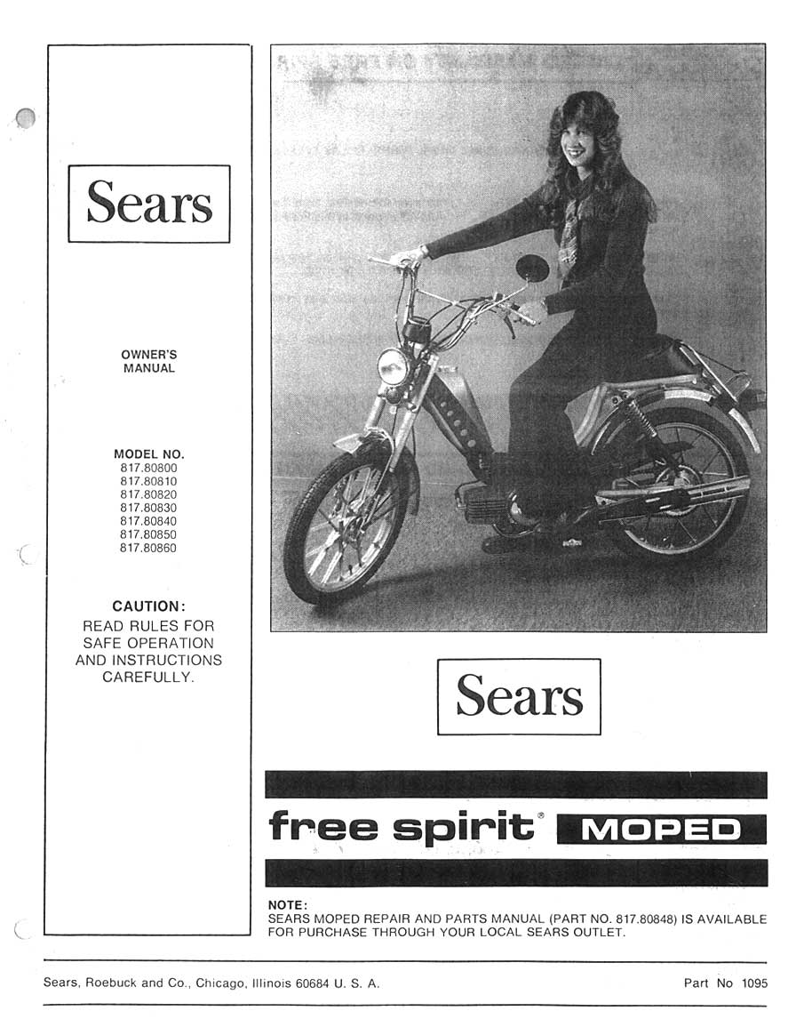 Sears Free Spirit Owner's Manual