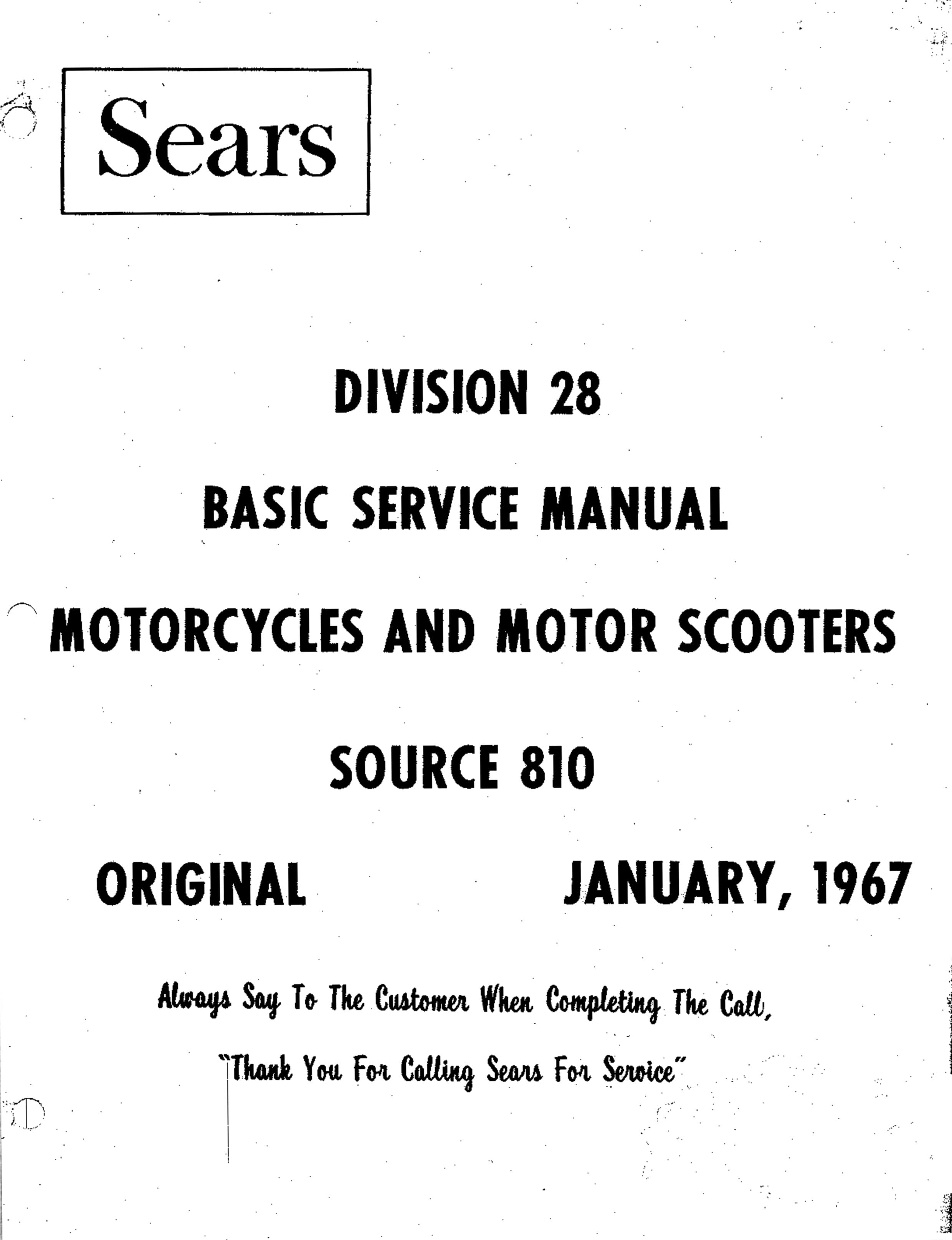 Puch Division 28 January 1967 Basic Service Manual