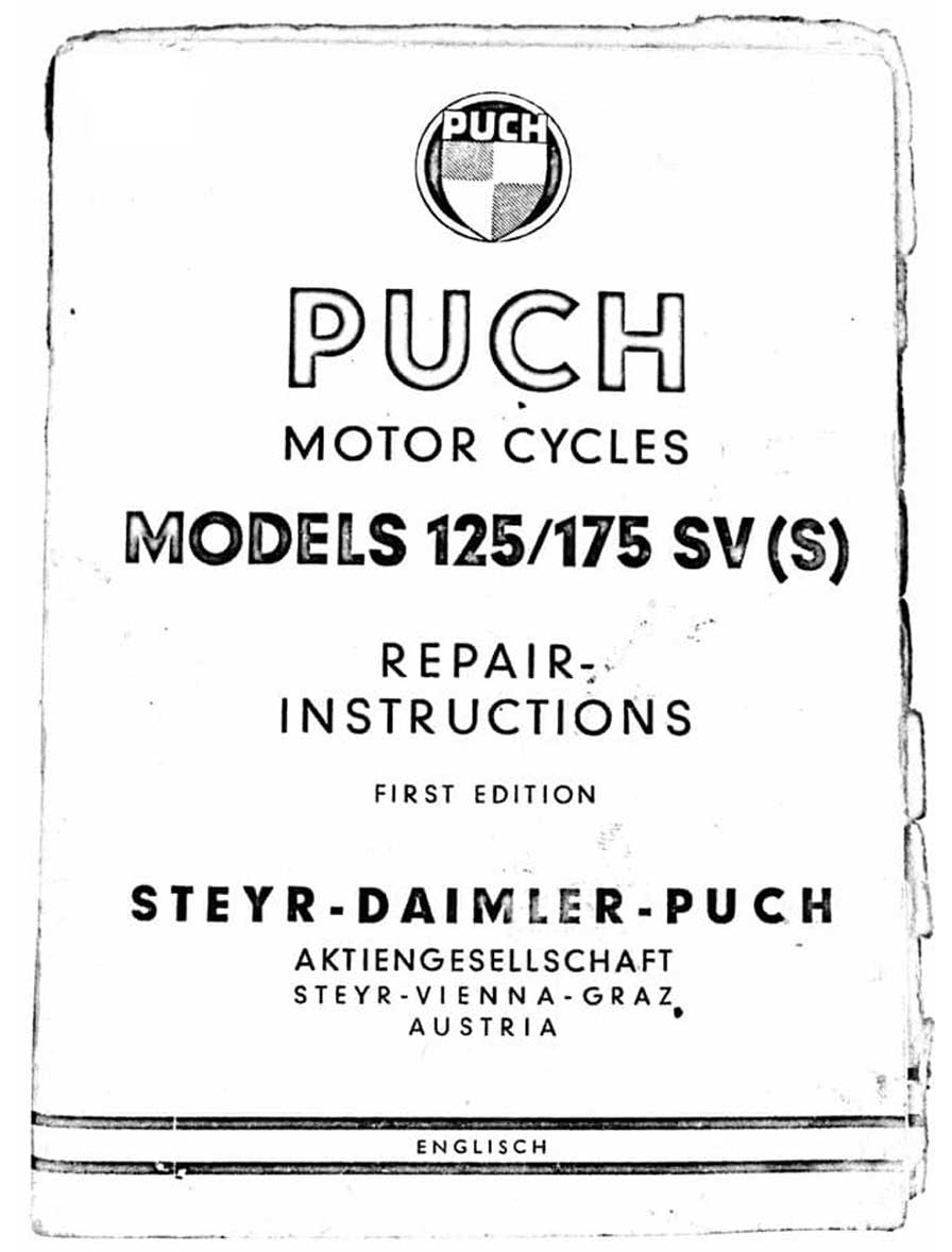 125 175 SV SVS Motorcycle Repair Instructions First Edition 125 175 SV SVS Motorcycle Repair Instructions First Edition